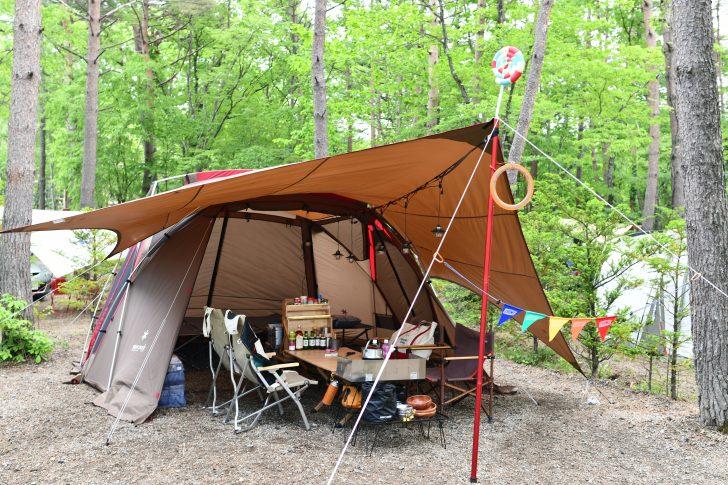 リビシェルとコネクトタープで雨キャンプ対策