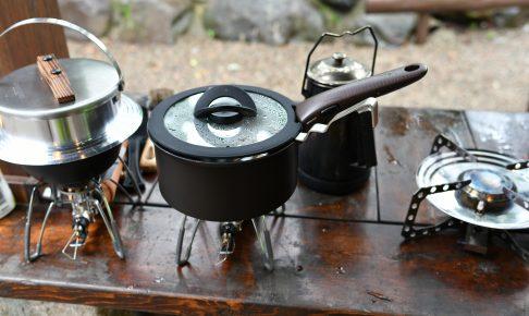 C&C那須高原のAC語らいサイトでティファールを使って調理中