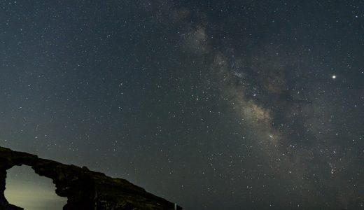 三浦半島の城ヶ島(馬の背洞門)で夏の大三角と天の川を観察
