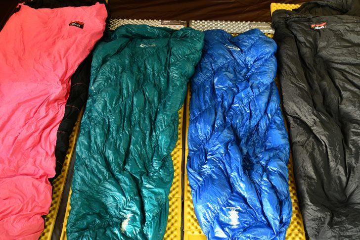 Zライトソルとダウンシュラフで作る寝床例