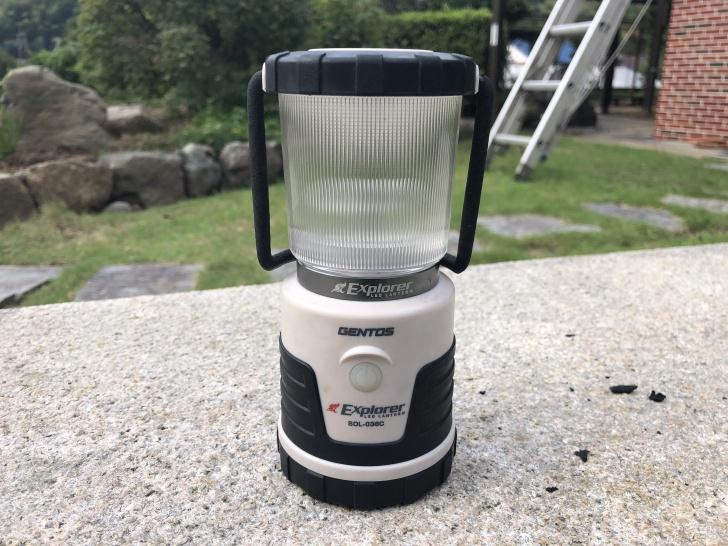 常夜灯として役立ったGENTOS SOL-036C