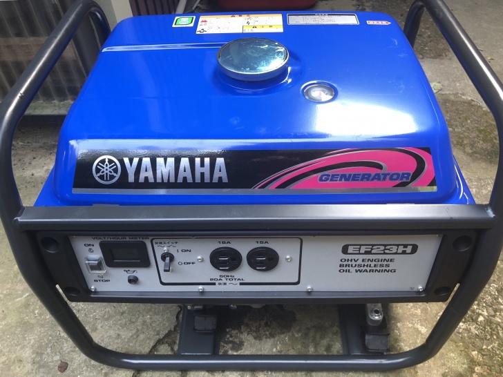 ある程度の家電を動かせるヤマハのガソリン発電機