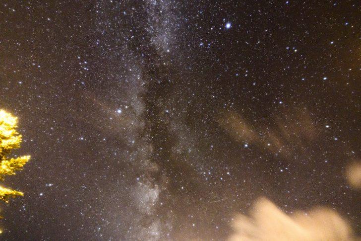 利尻富士温泉の駐車場で星空撮影に失敗