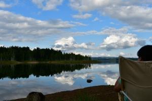 朱鞠内湖畔の第2キャンプ場で一休み