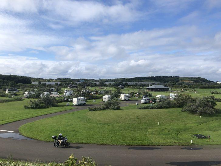 道立宗谷ふれあい公園オートキャンプ場の風景