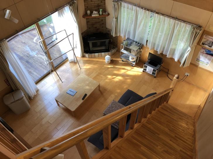 利尻島ファミリーキャンプ場ゆ~にのコテージ室内