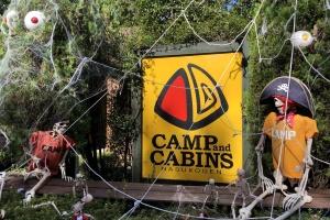 キャンプアンドキャビンズ那須高原のハロウィンデコレーション