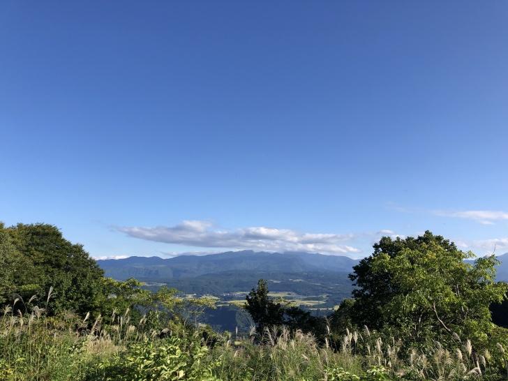 無印良品津南キャンプ場のC45サイトから見る景色