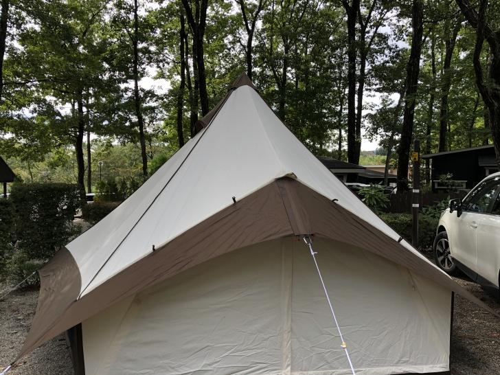 ハロウィンキャンプでグロッケ12T/Cを設営