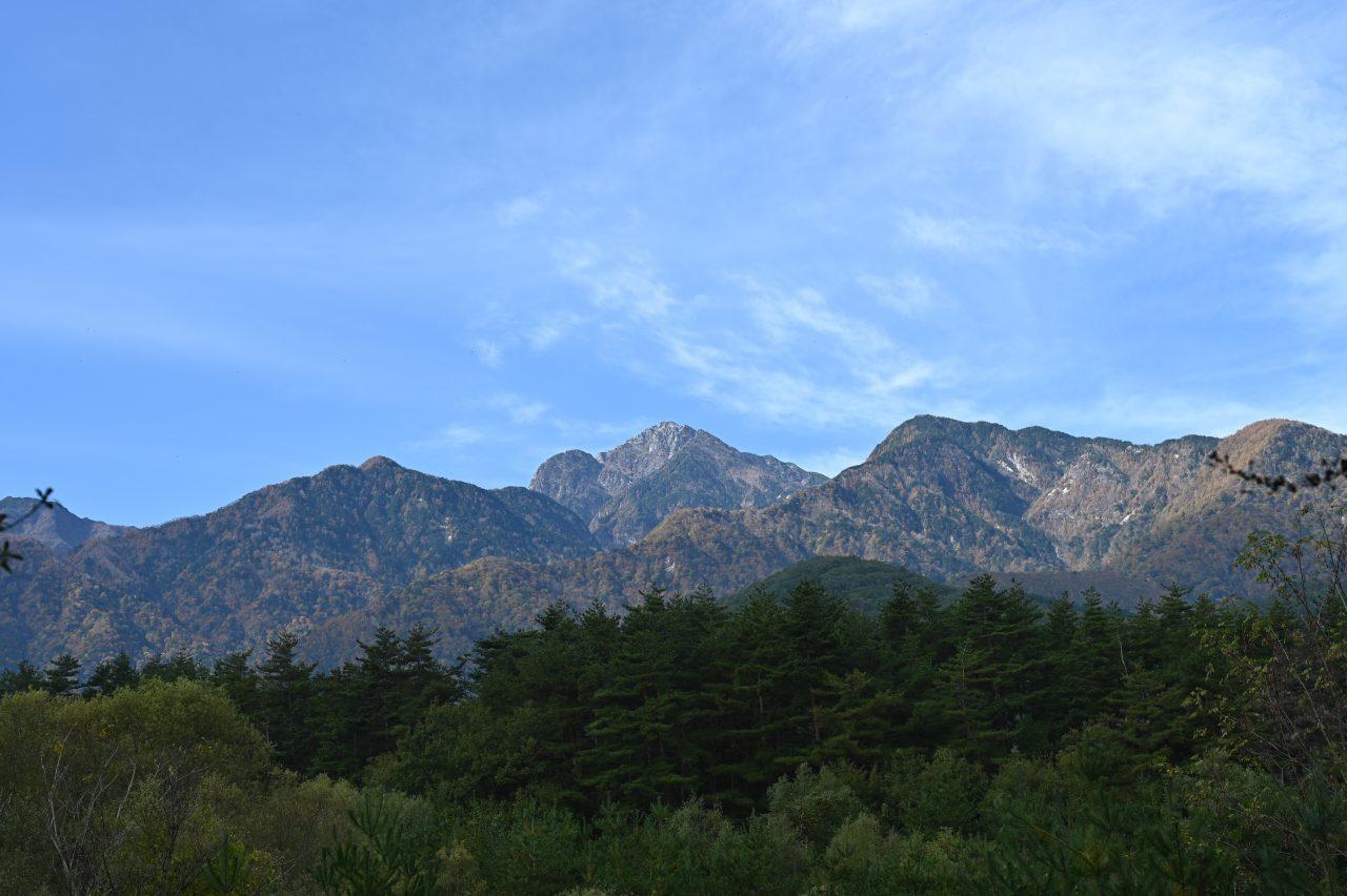 三景園Cサイトから眺める南アルプス