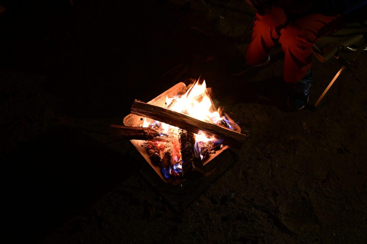 南アルプス三景園で焚き火を囲んでまったり