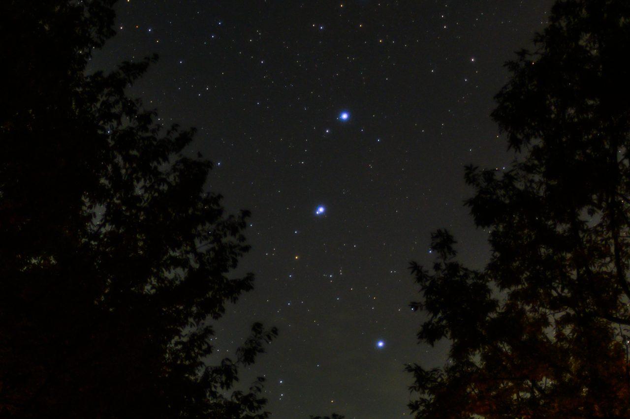 北斗七星のミザールとアルコルを見分ける