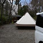 有野実苑のテラスサイトでミニバン初キャンプ