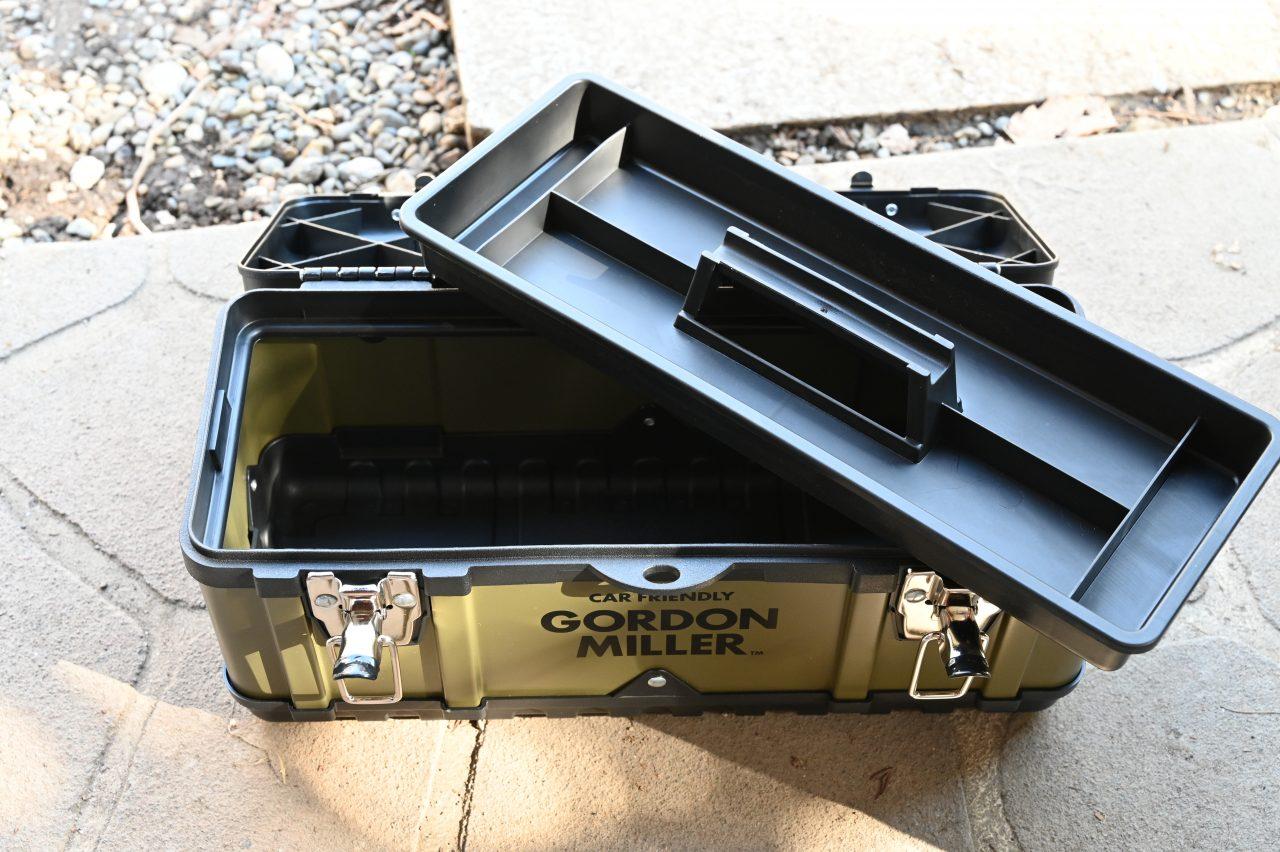 ゴードンミラーのツールボックス390はトレー付き