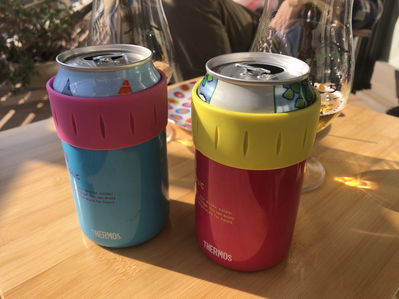サーモスの保冷缶ホルダーでベランダ生活