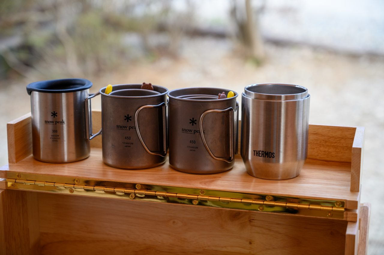 キャンプで使っているマグカップや湯呑み