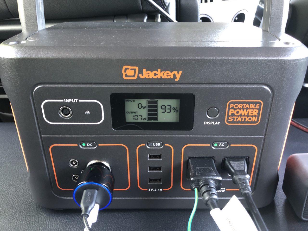 車内に積んだ大容量ポータブル電源でコンセントをフル活用