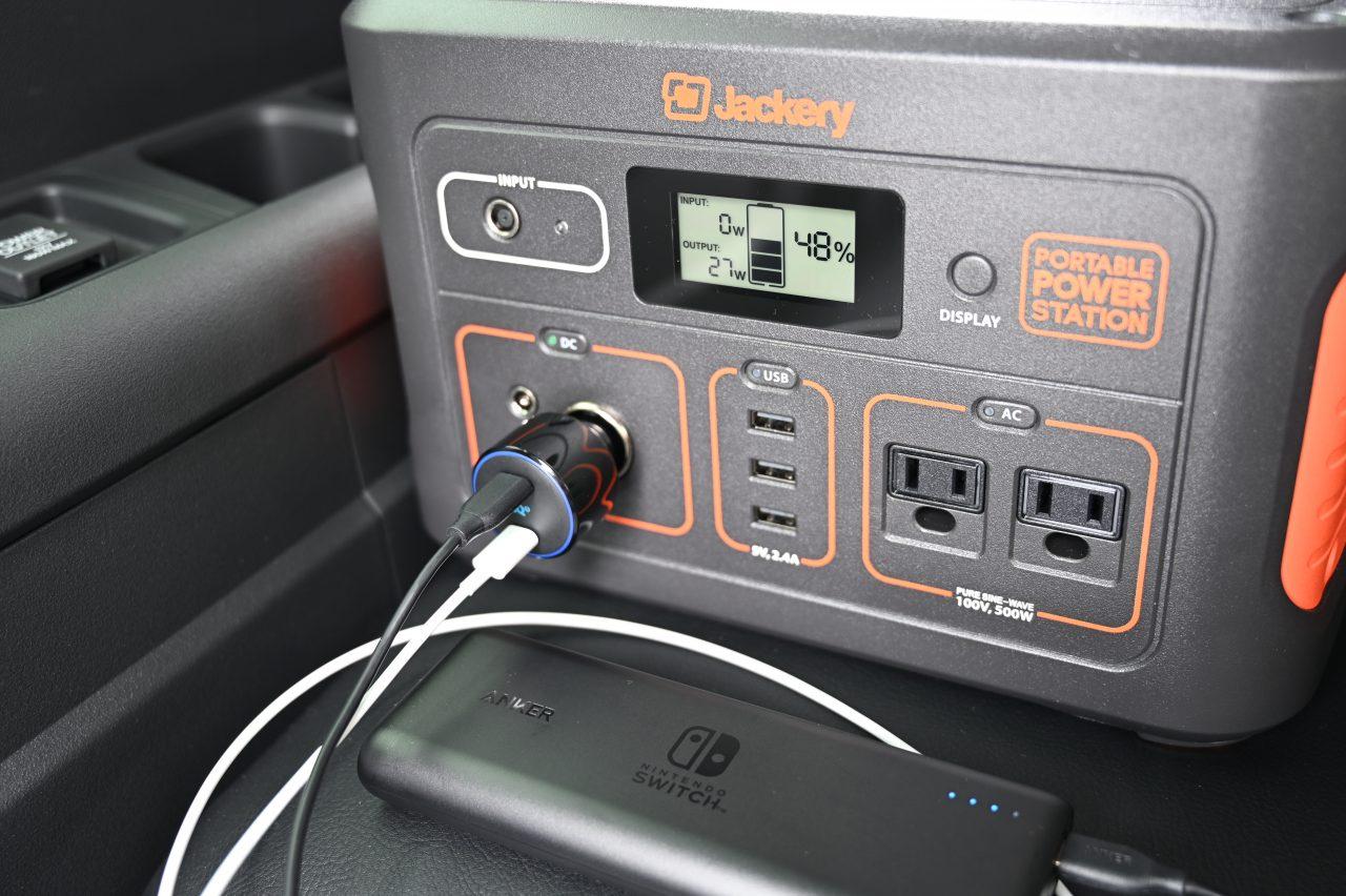 USB-PDに対応したカーチャージャーと組み合わせる