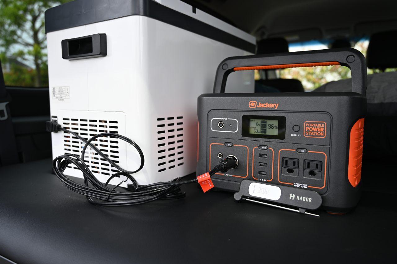 ポータブル電源で車載冷蔵庫を50時間以上動かす