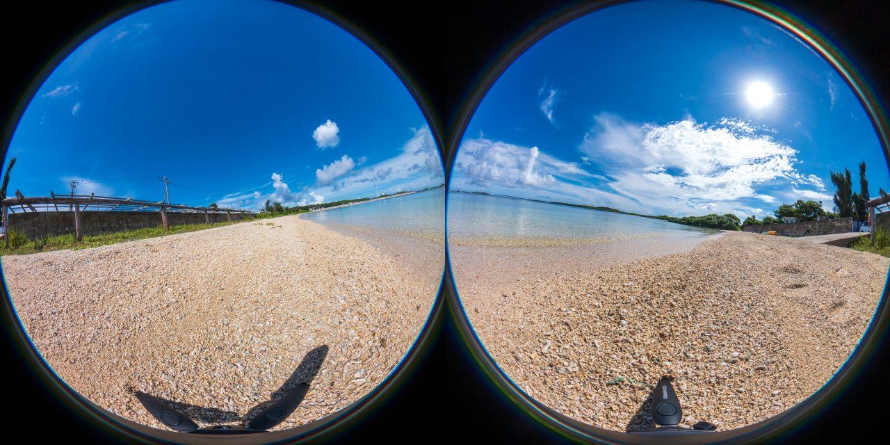 360度カメラのRAW画像は2つの円周魚眼レンズ