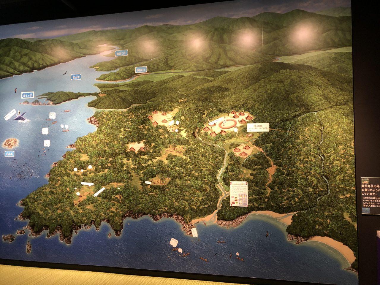 崎山貝塚縄文の森ミュージアムの展示物