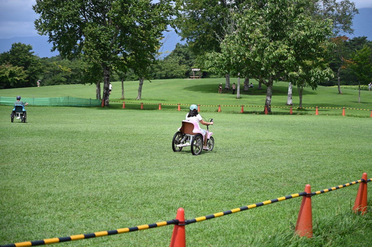 真夏の小岩井農場で自転車遊び