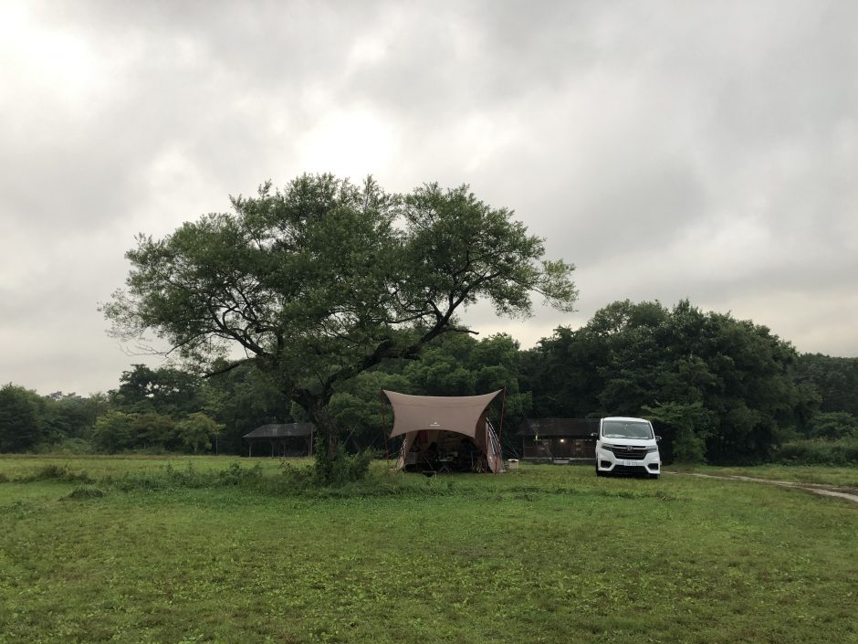 休暇村裏磐梯キャンプ場の区画サイトは広くて過ごしやすい
