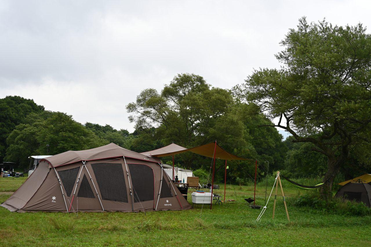 休暇村裏磐梯キャンプ場で土砂降りキャンプ