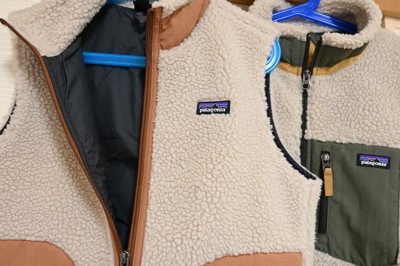 PatagoniaレトロXキッズモデルのベストとジャケット