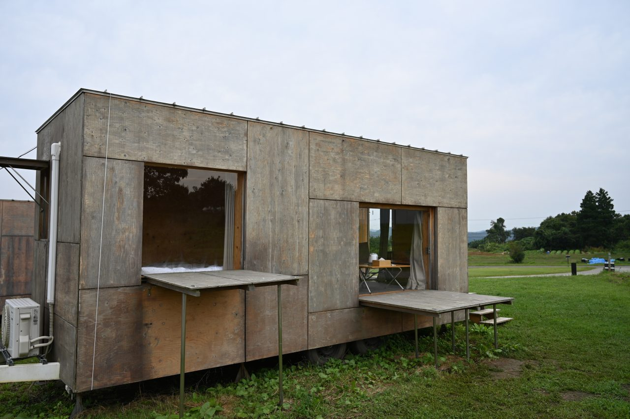 スノーピーク本社キャンプ場に設置されたモバイルハウス住箱
