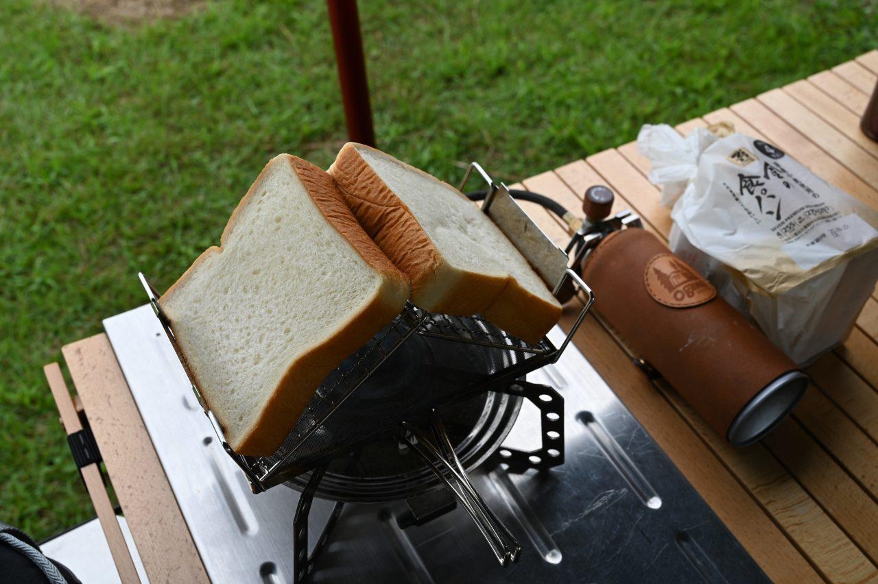 マルチロースターで食パンを焼く
