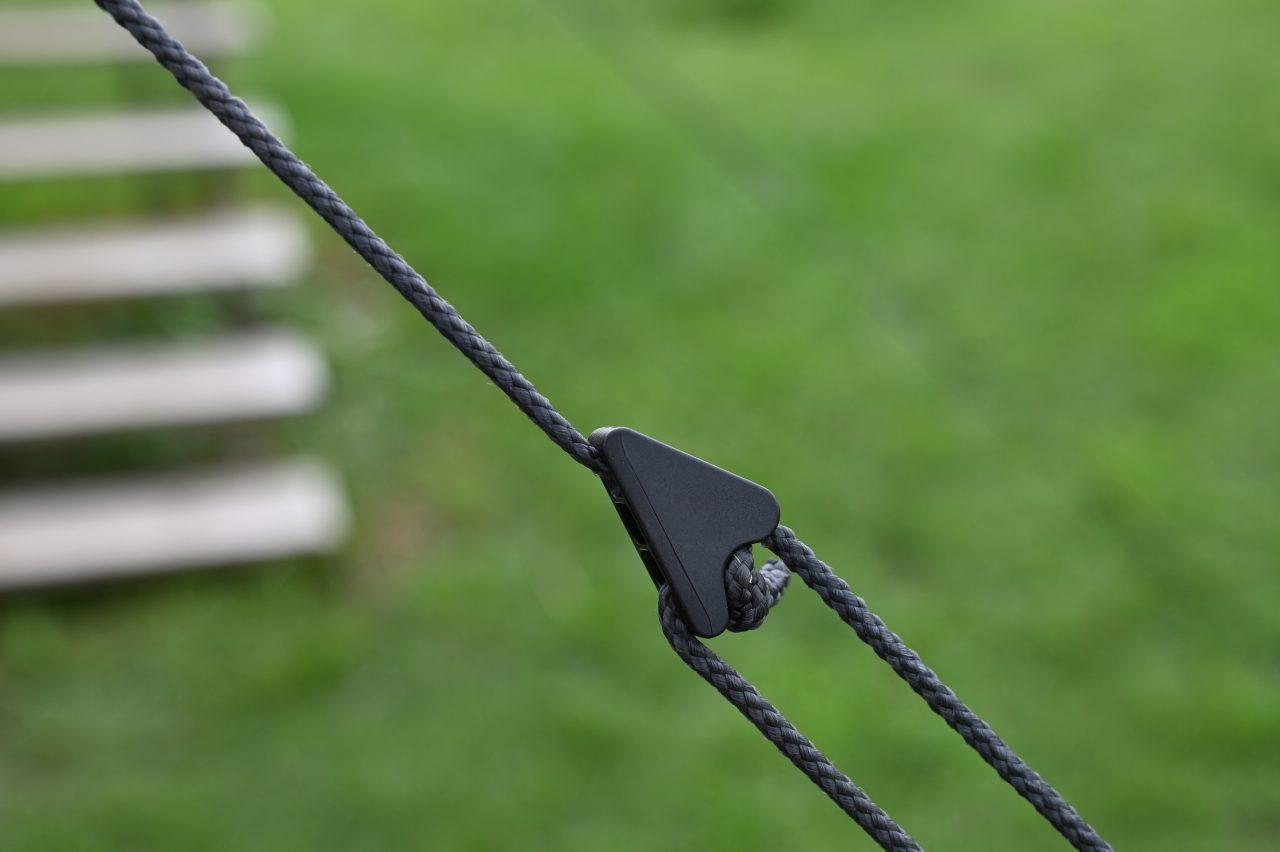 レクタタープグロウの黒いロープと自在