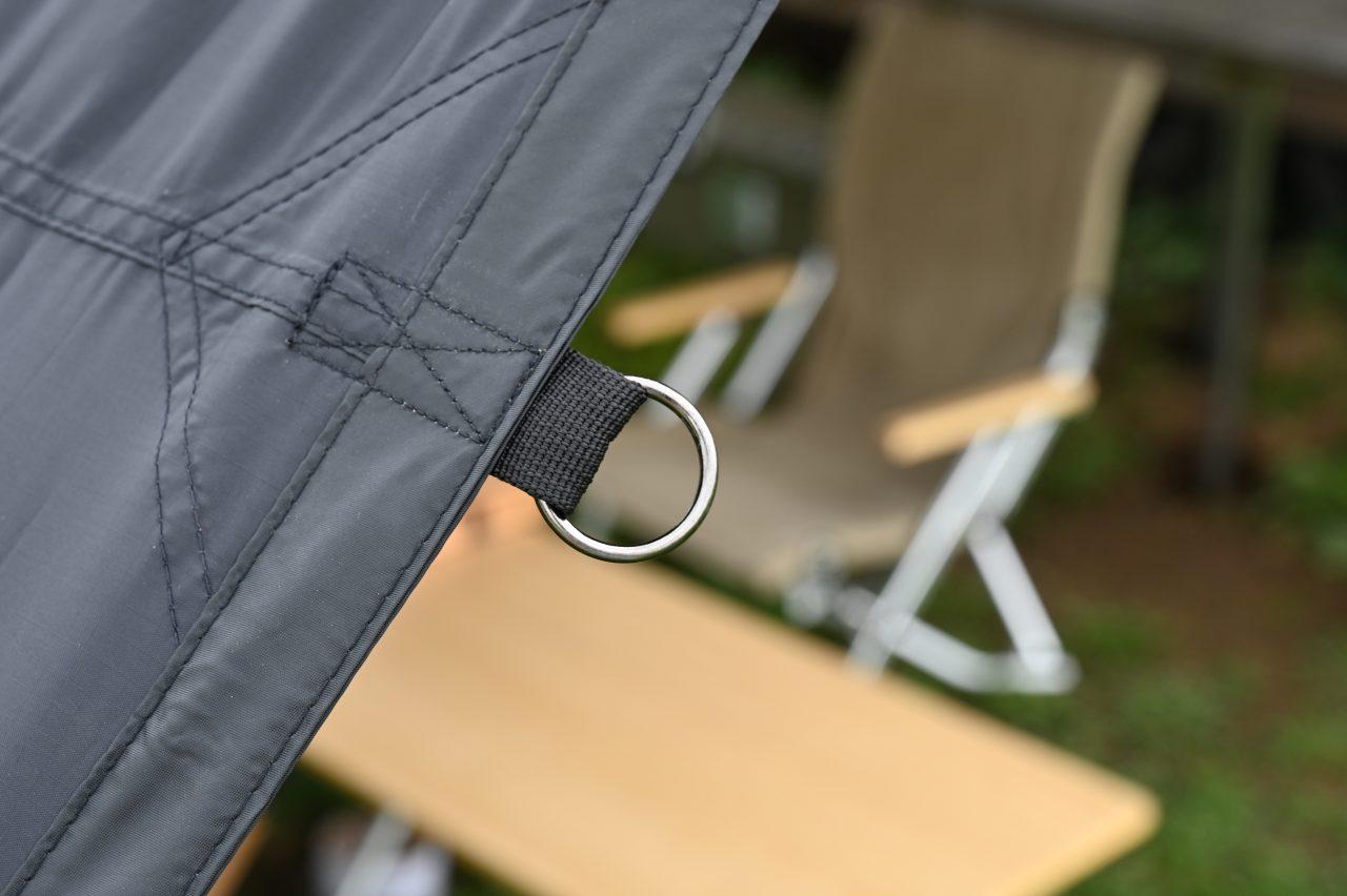 レクタタープクロウのロープ取り付け可能箇所