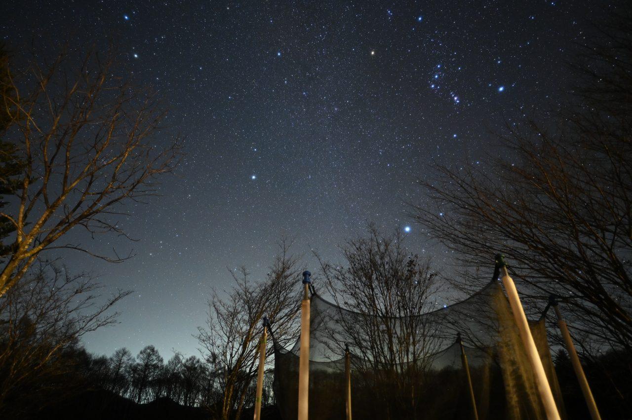 北軽井沢スウィートグラスで撮って出しの星空
