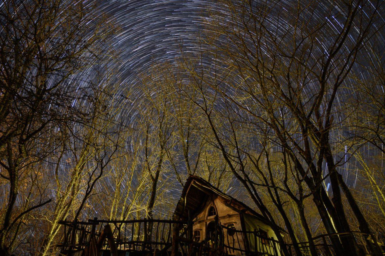 北軽井沢スウィートグラスから眺める日周運動の軌跡