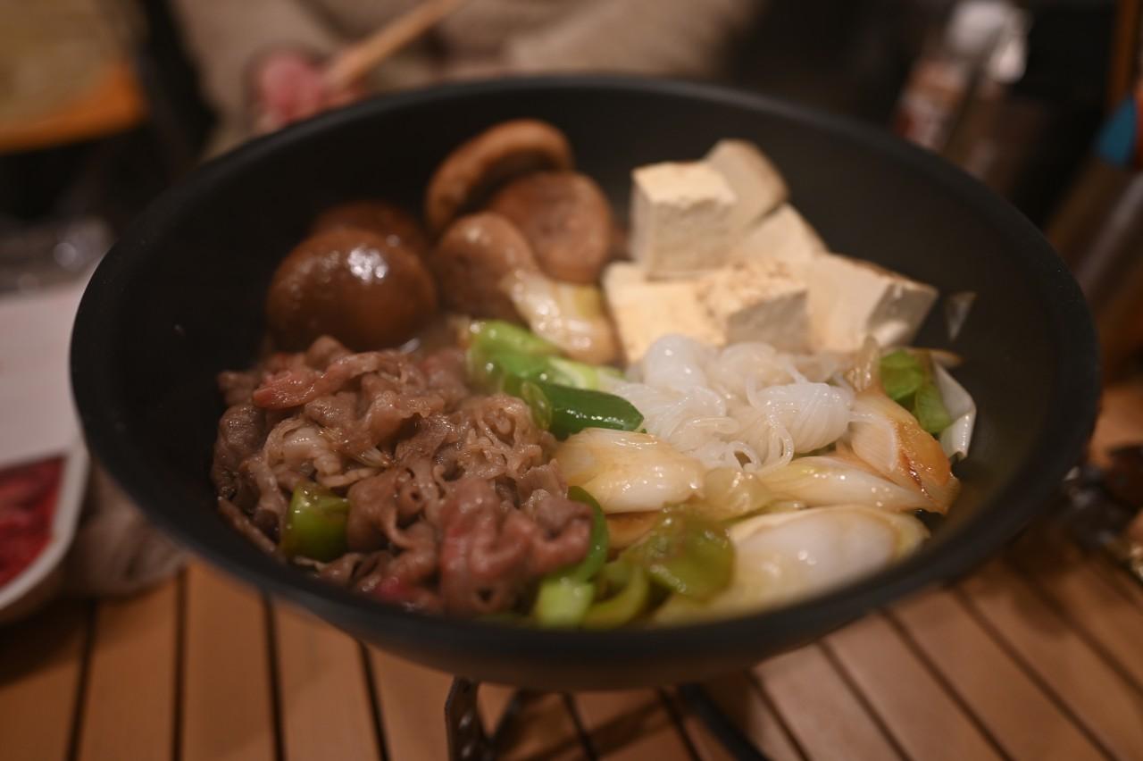 ゆるキャン△のクリキャンにならって夕飯はすき焼き