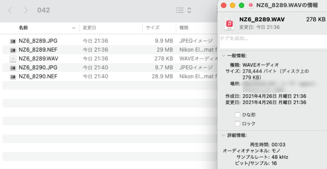 音声メモをパソコンに取り込んだときのファイル形式