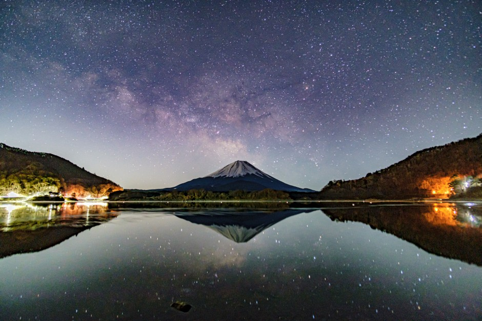 X-T3で天の川と富士山を撮影