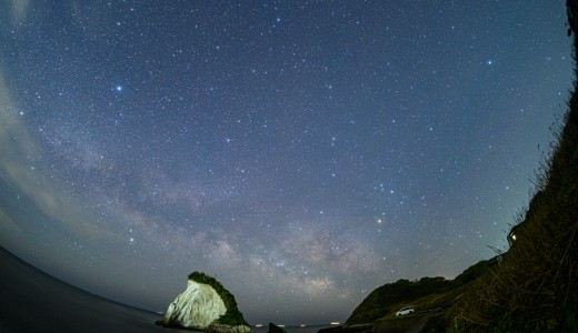 完ソロならコロナ禍でも安心!津々ヶ浦の夫婦岩で星空撮影