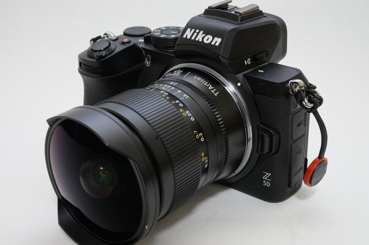 NIKON Z50にTTArtisan 11mm f2.8 Fisheyeを取り付ける