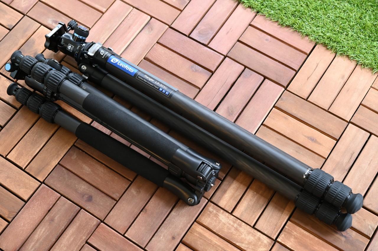 LS-323CとN-2204SKは持ち運びサイズが大きく異なる