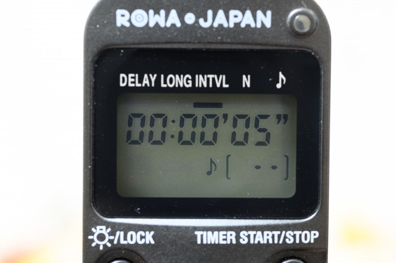 ロワジャパンのタイマーレリーズ手順3