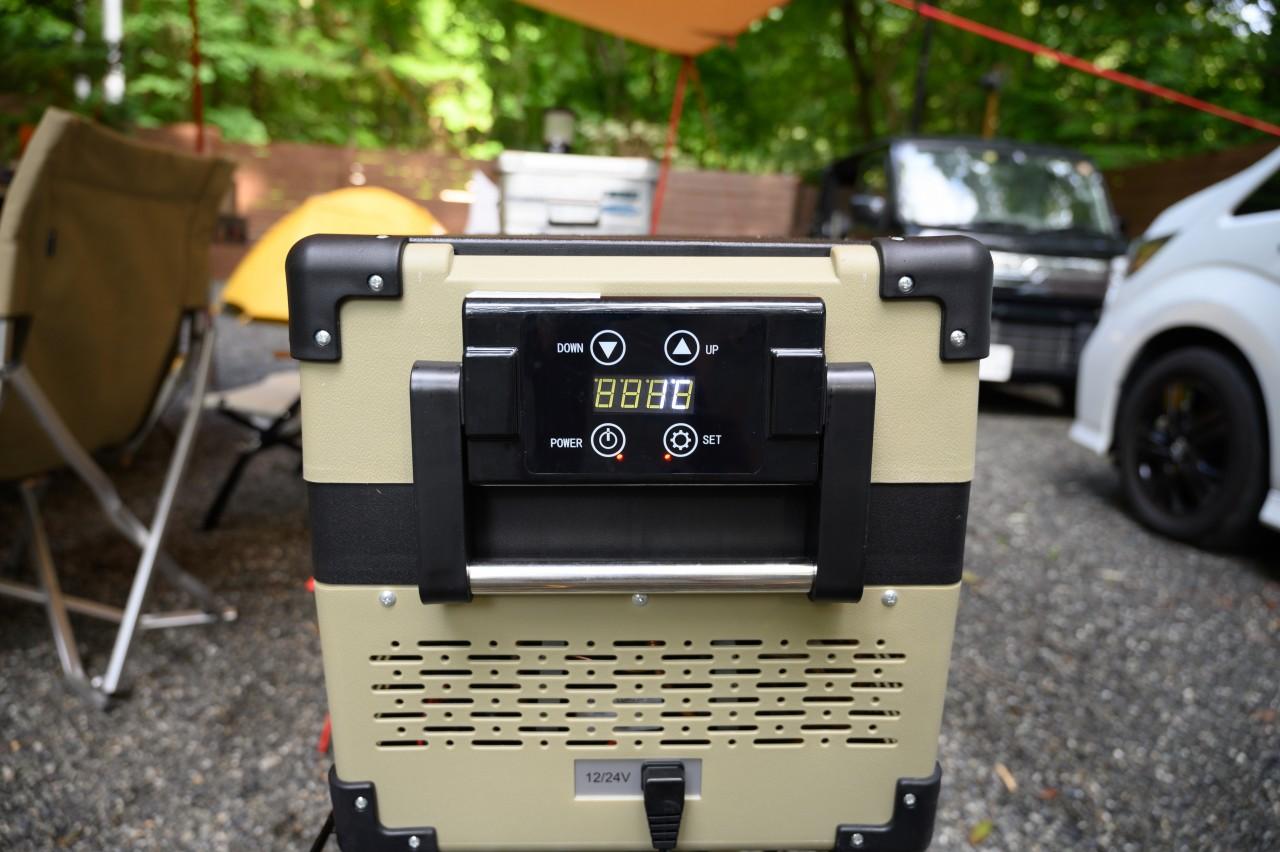 電源付きサイトでの夏キャンプに大活躍する冷蔵庫