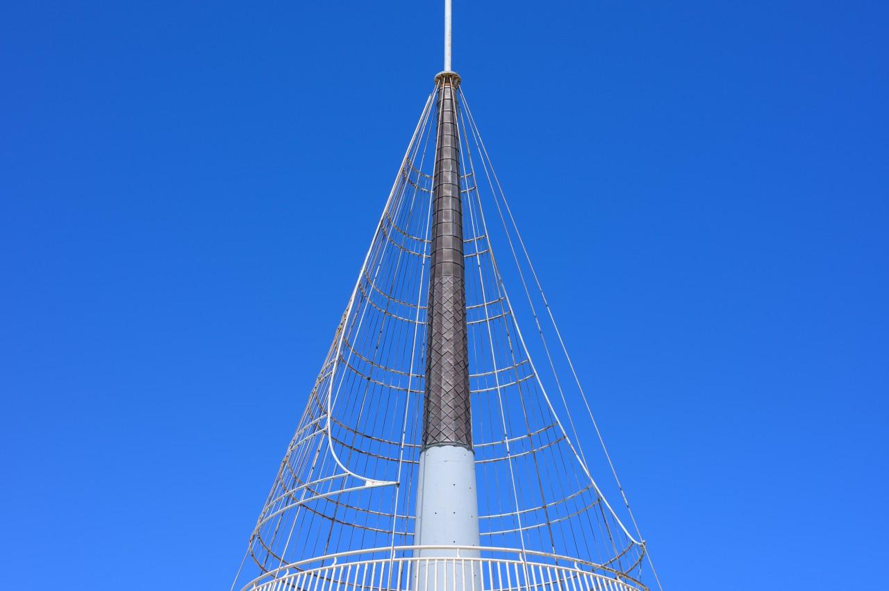 周辺減光を確認するため九十九里ビーチタワーで撮影