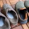キャンプの靴事情。かかとをつぶして履けるモックシューズが便利