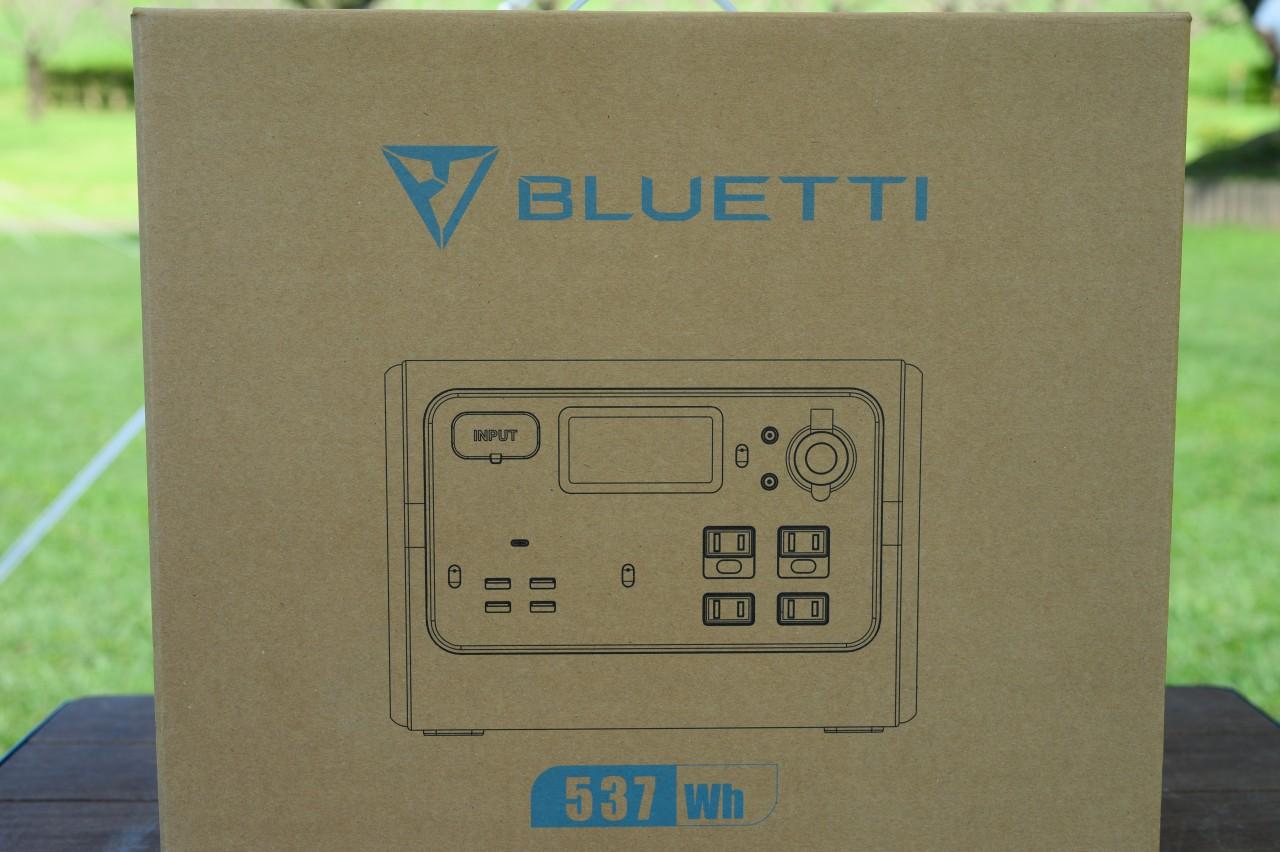 ポータブル電源「BLUETTI EB55」の外箱